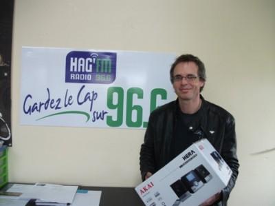 Radio HAG' FM - Gagnant chaine hifi mars 2015