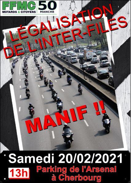 Manifestation motards février 2021